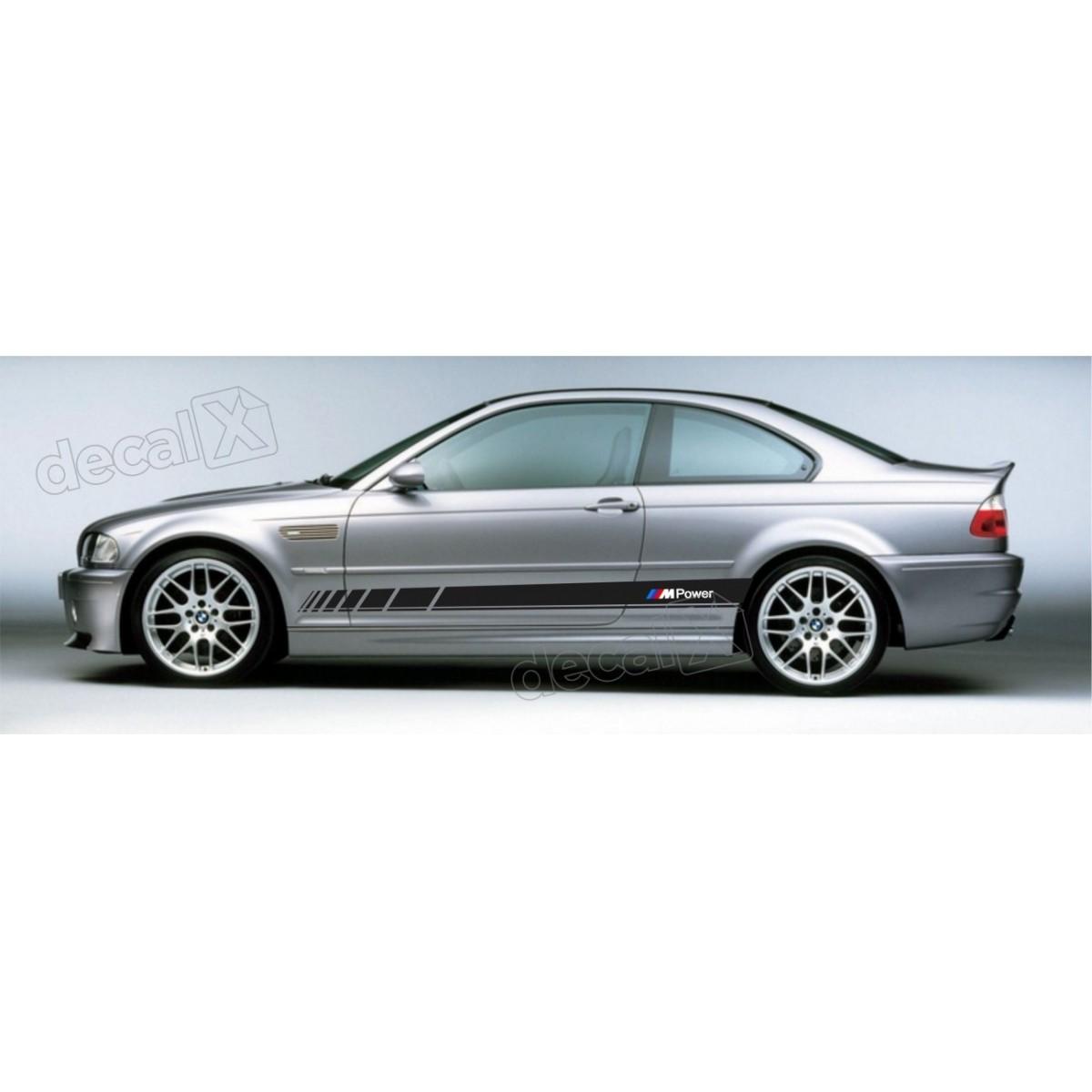 Adesivo Bmw Faixa Lateral Serie 3 Power Bw27