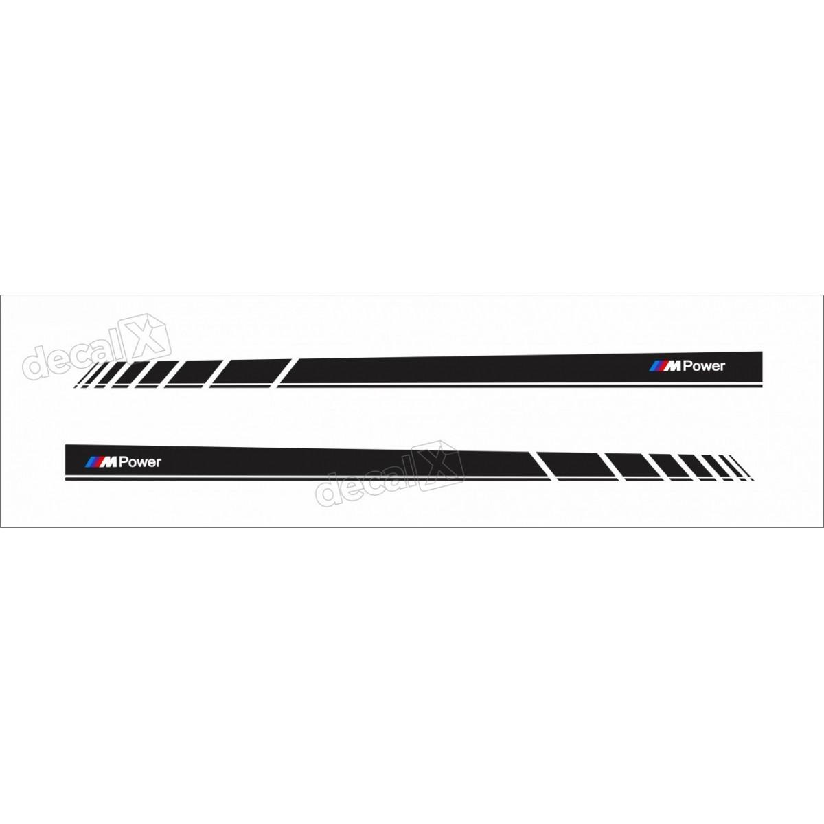 Adesivo Bmw Faixa Lateral Serie 3 Power Bw28
