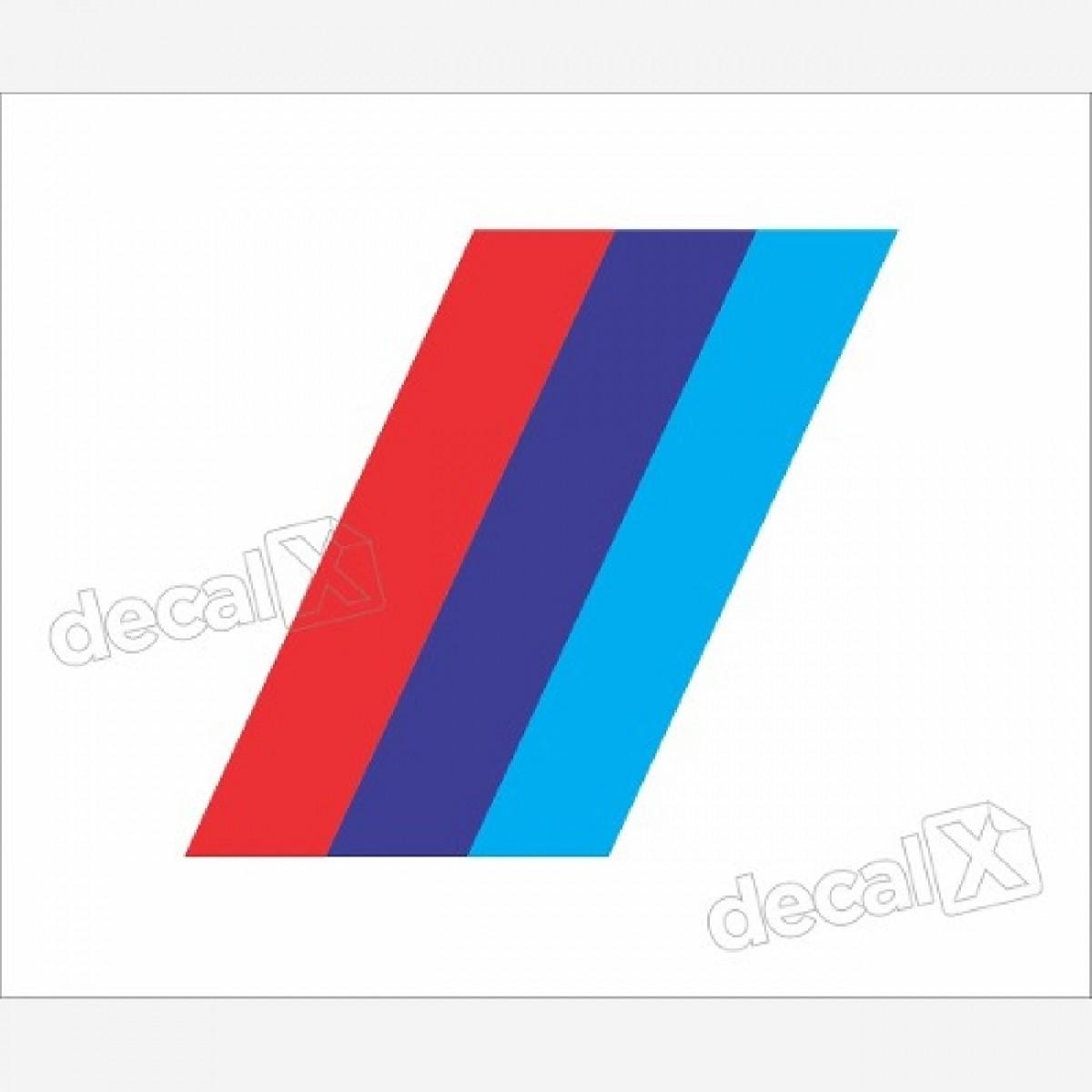 Adesivo Bmw Faixa Tricolor Caixa De Ar Decalx