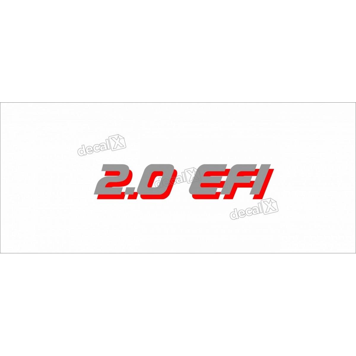 Adesivo Chevrolet 2.0 Efi Kadett Cinza/vermelho Kdtsp05