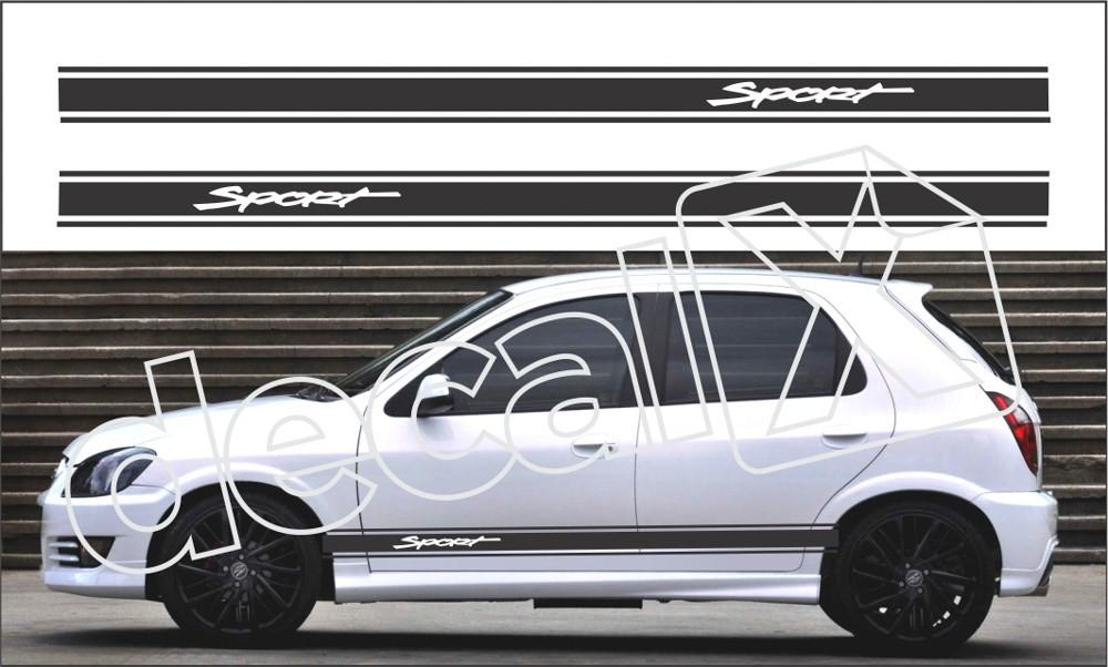 Adesivo Chevrolet Celta Faixa Lateral 3m Ctm302