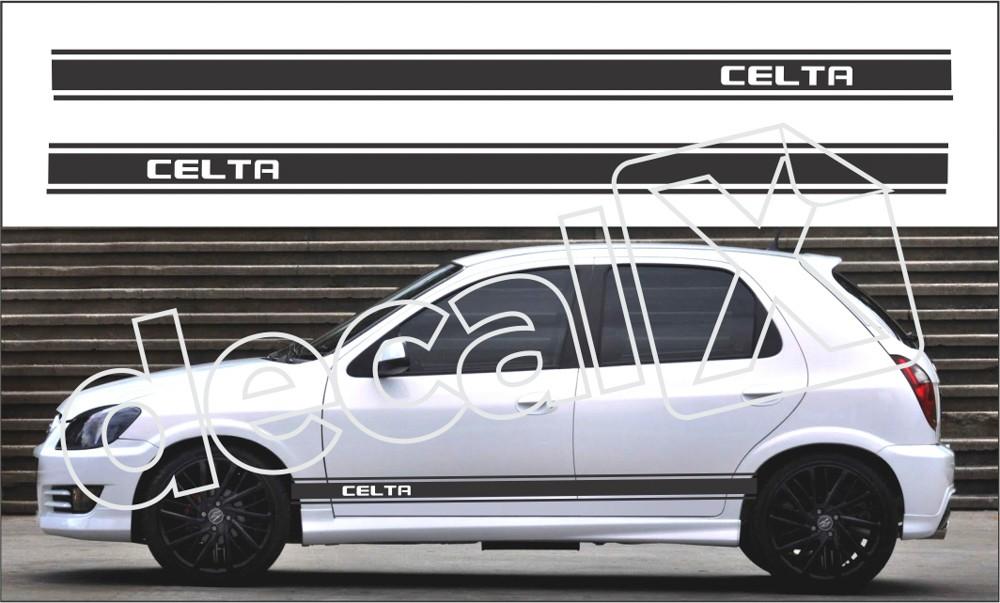 Adesivo Chevrolet Celta Faixa Lateral 3m Ctm303