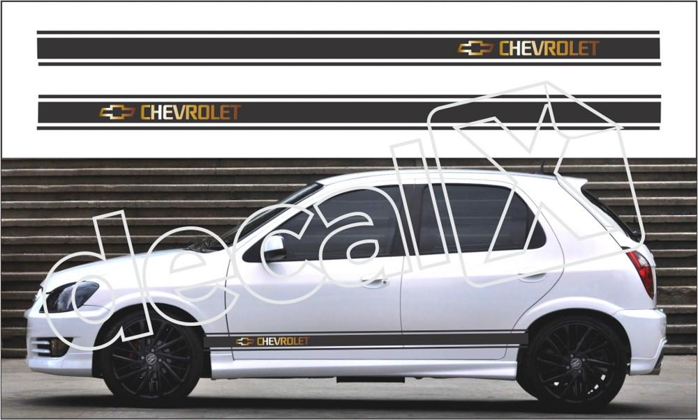 Adesivo Chevrolet Celta Faixa Lateral 3m Ctm304