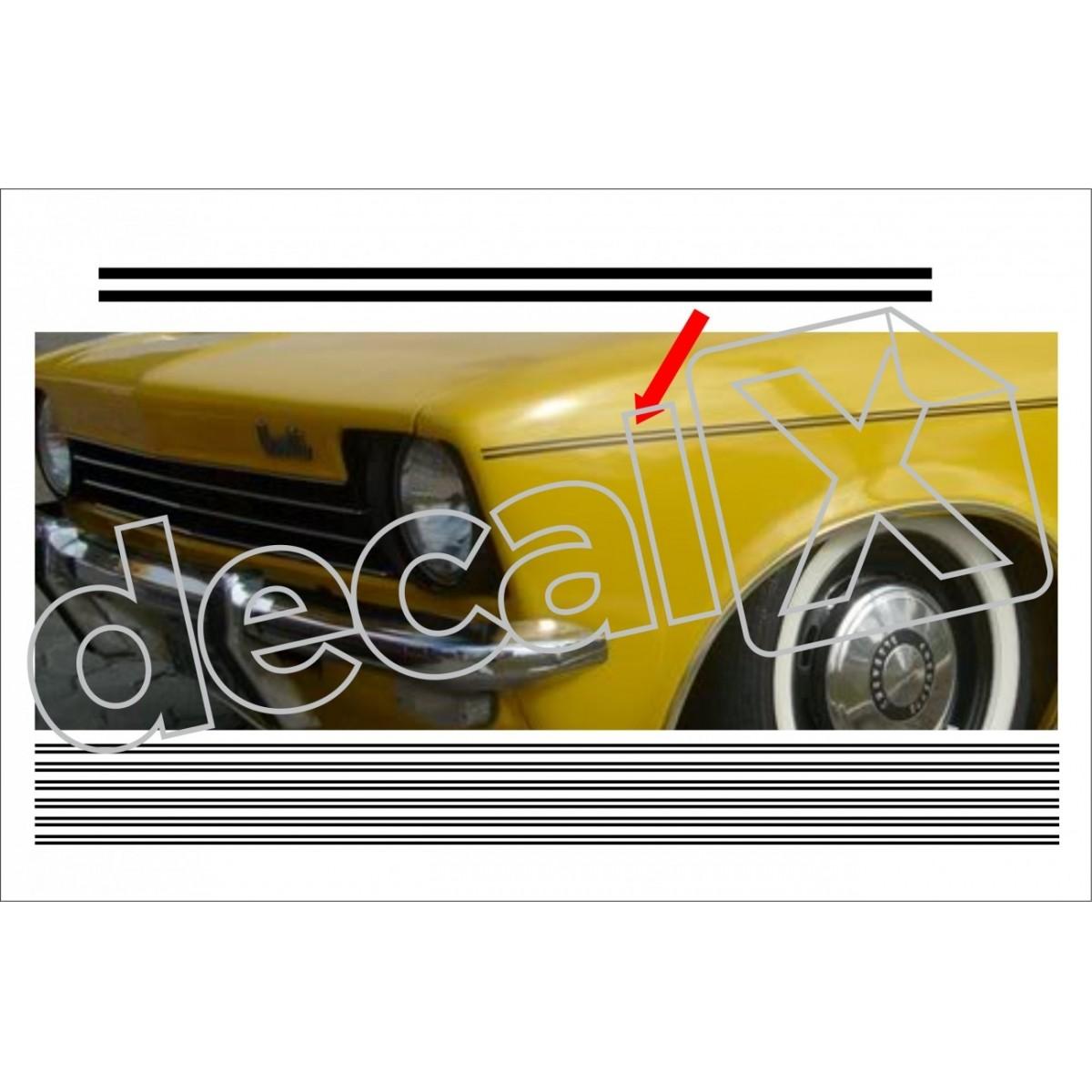 Adesivo Chevrolet Chevette Faixa Friso Lateral Tr001