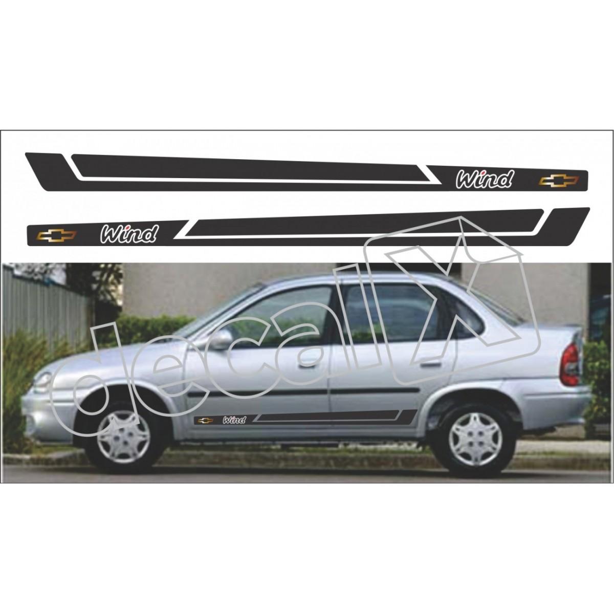 Adesivo Chevrolet Corsa Faixa Lateral 3m Cs0404