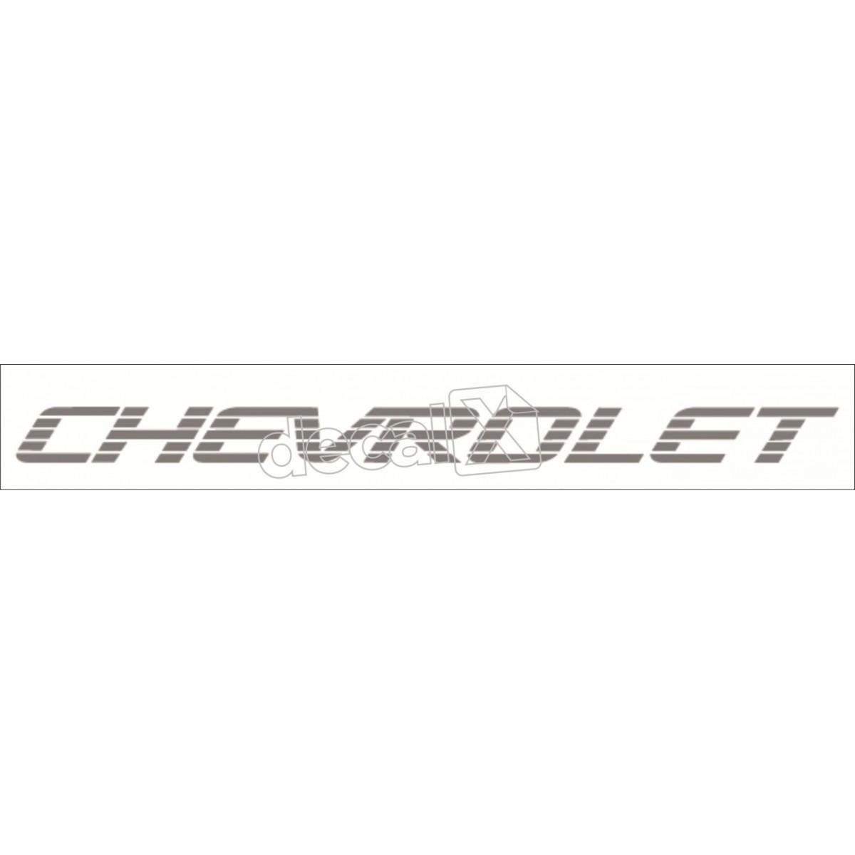 Adesivo Chevrolet D20 Tampa Traseira Cinza D2007