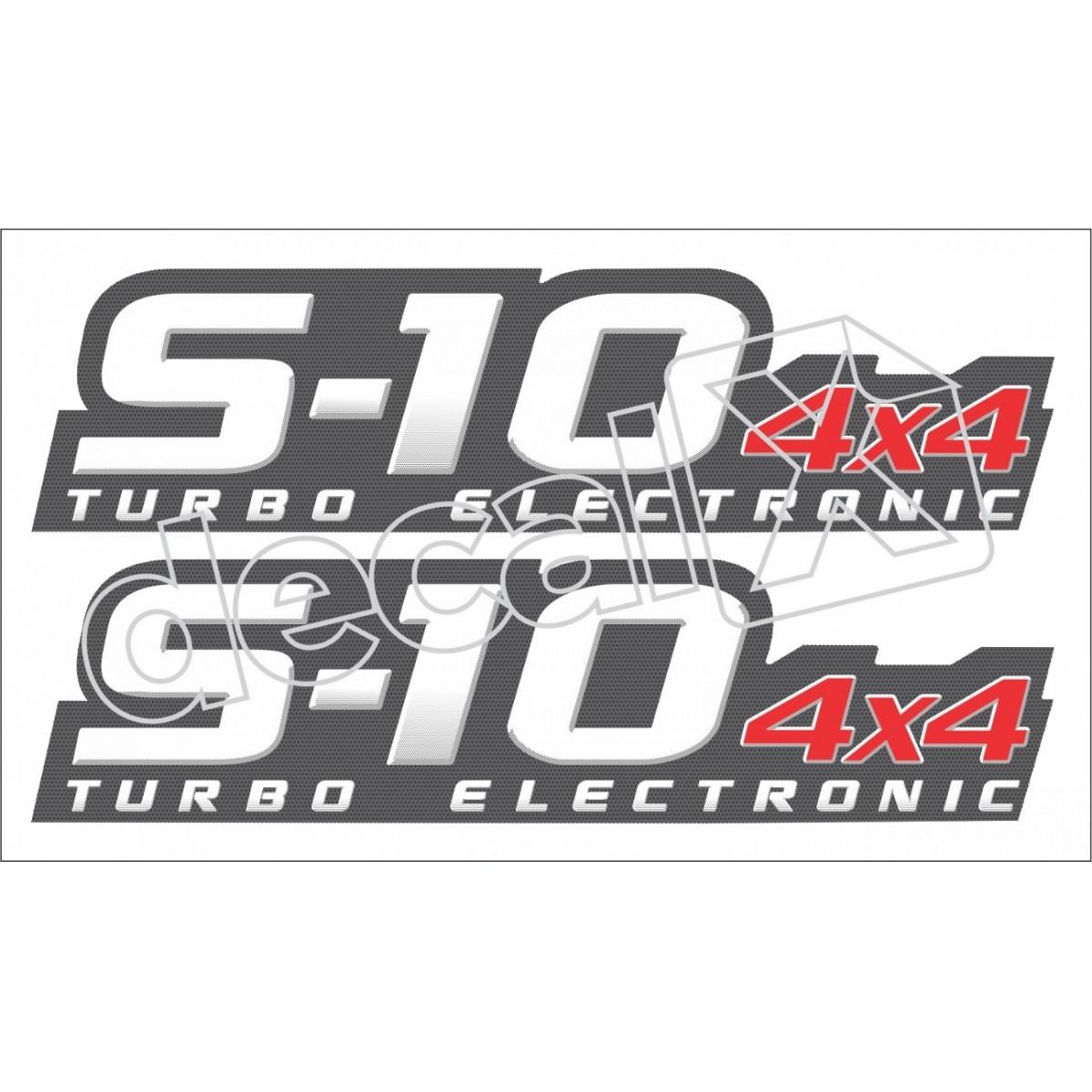 Adesivo Chevrolet S10 4x4 Tubo Eletronic 2009 A 2011 S10003