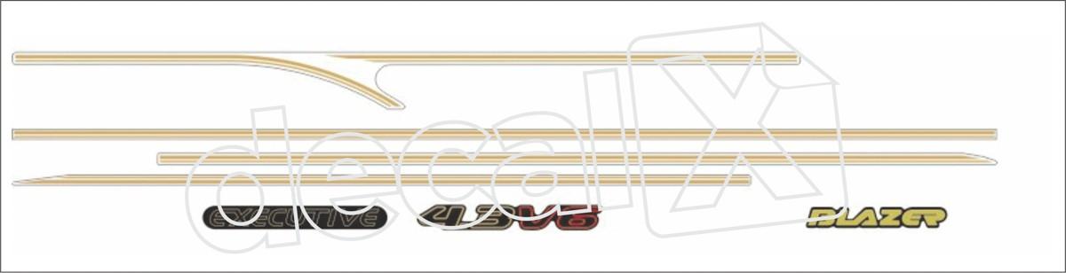 Adesivo Chevrolet S10 Blazer Executive 2001 Fba002