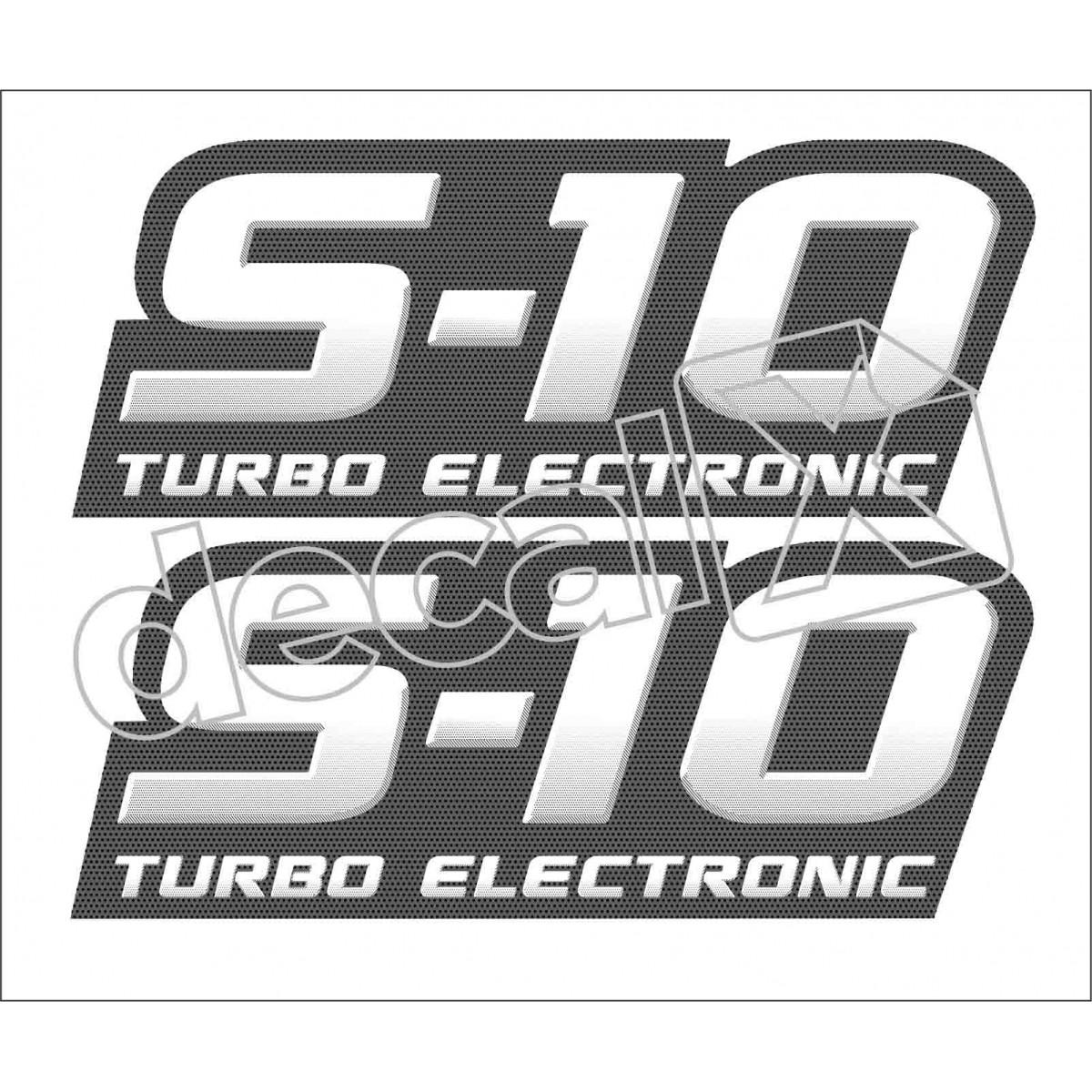 Adesivo Chevrolet S10 Turbo Electronic 2009 A 2011 S10011