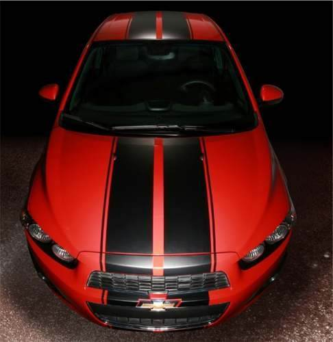 Adesivo Chevrolet Sonic Kit Faixas Capo Teto Mala 3m Snfr01