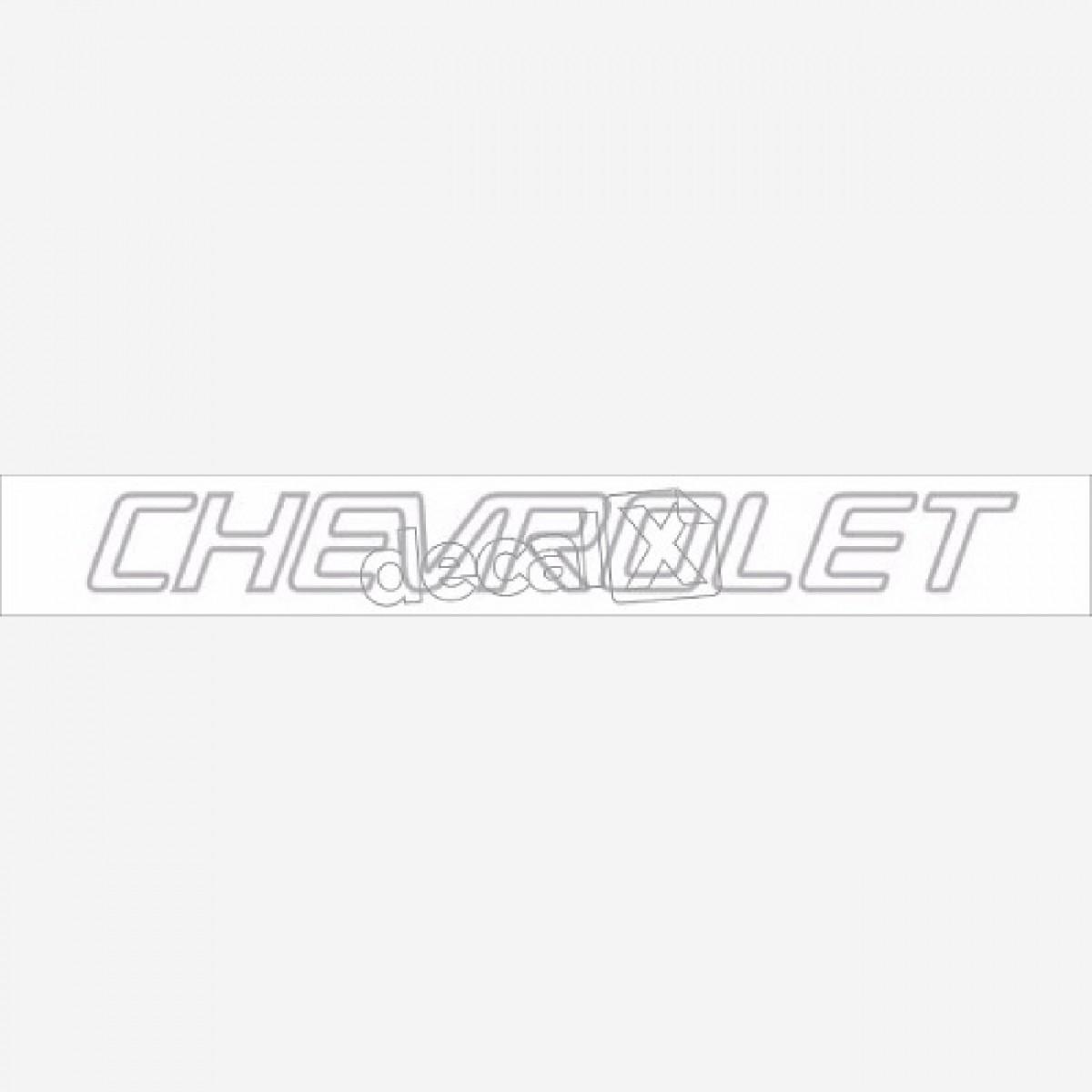 Adesivo Chevrolet Traseiro S10 Prata S10023