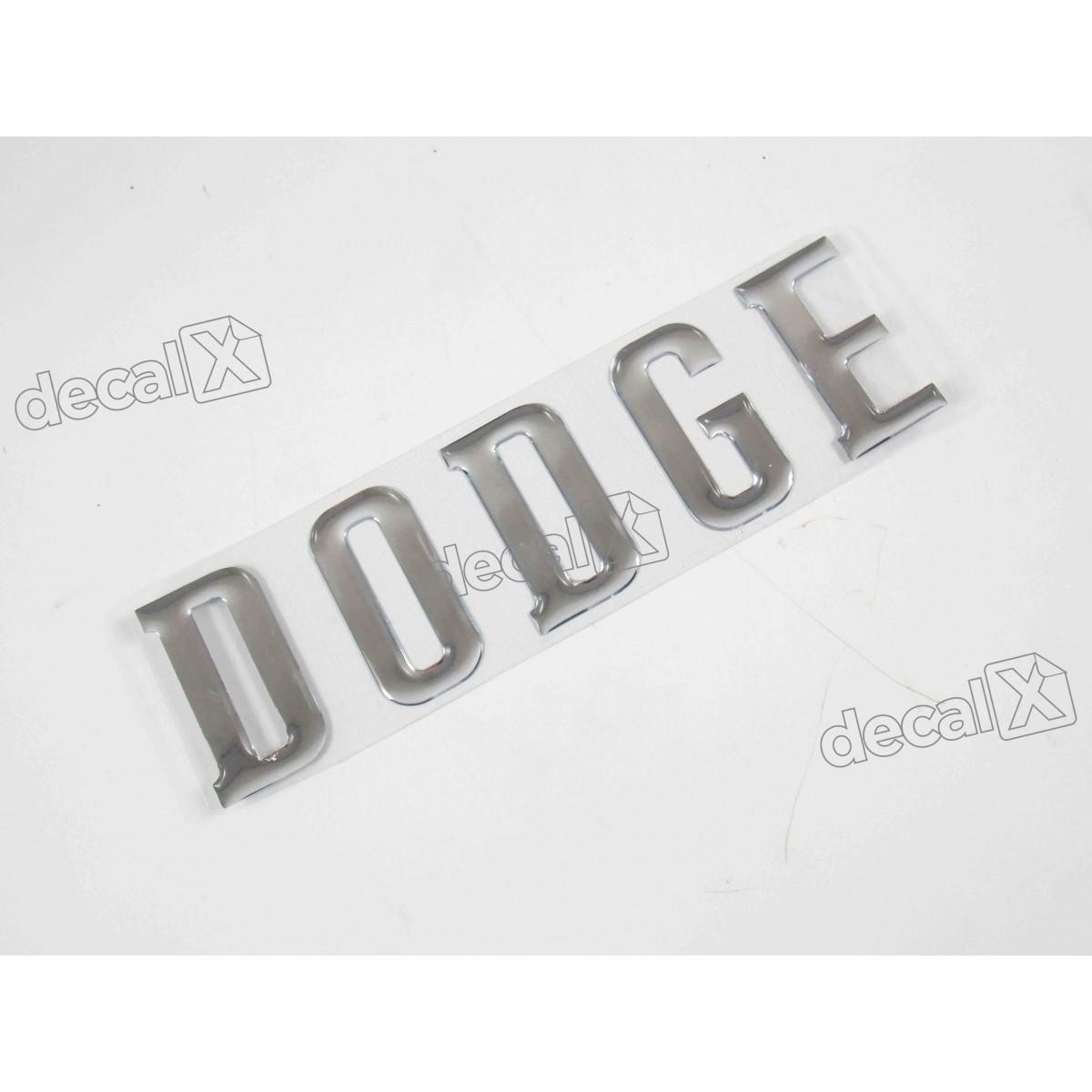 Adesivo Dodge Cromado 3x30 Cms Resinado Decalx