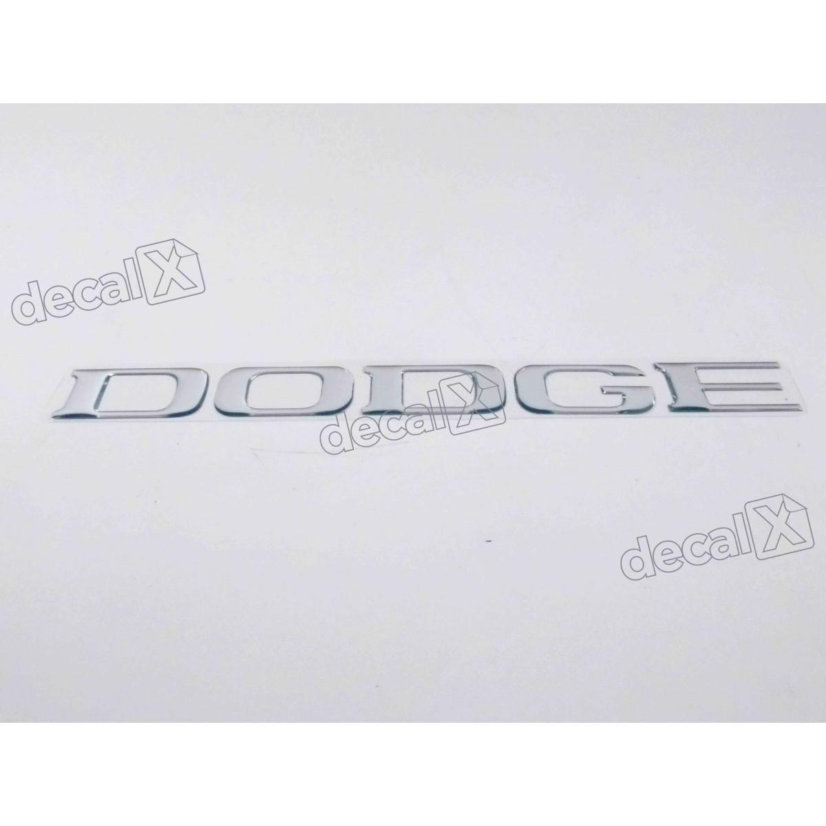 Adesivo Dodge Cromado 4,2x15,5 Cm Resinado Res2