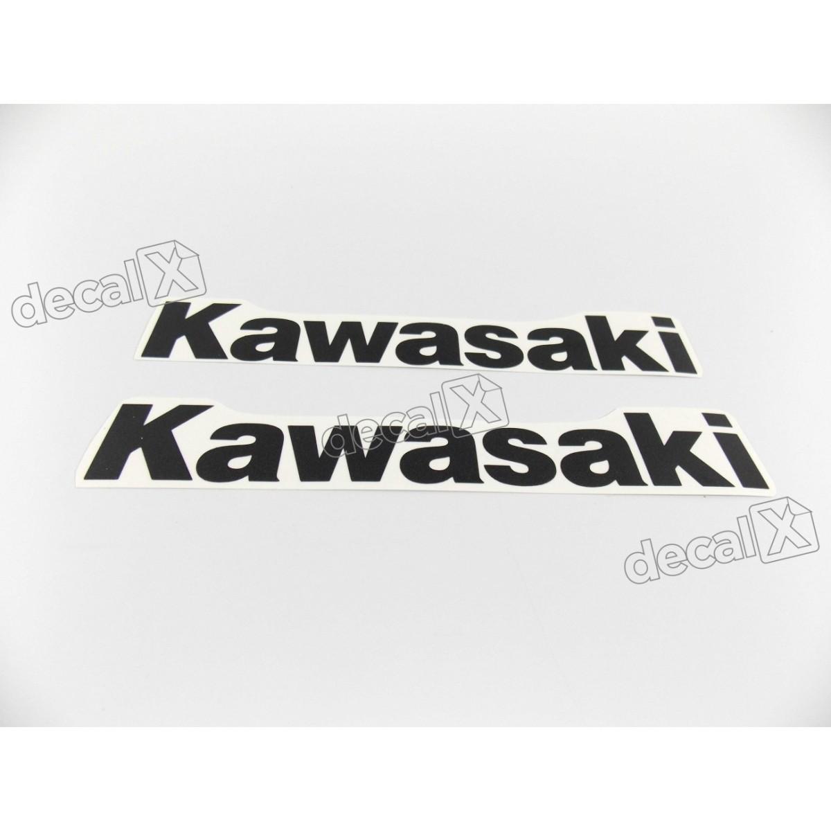 Adesivo Emblema Kawasaki Preto Par Prt05