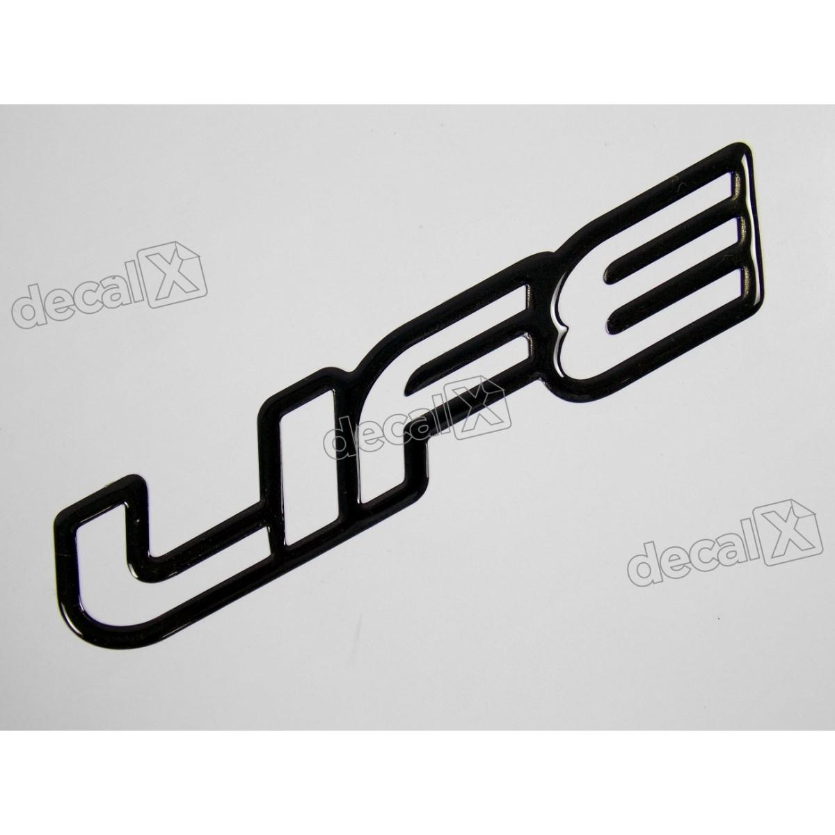 Adesivo Emblema Life Celta Classic Corsa Resinado Preto