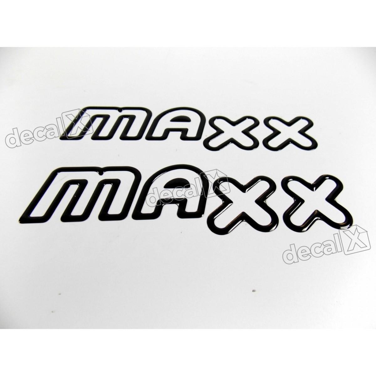 Adesivo Emblema Maxx Celta Classic Corsa Resinado Preto Par