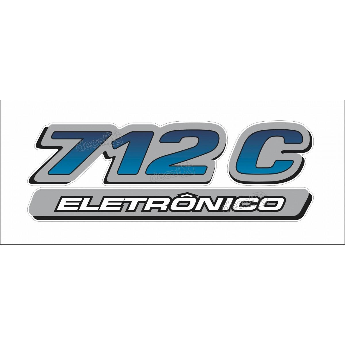 Adesivo Emblema Mercedes 712c Eletronico Cm109