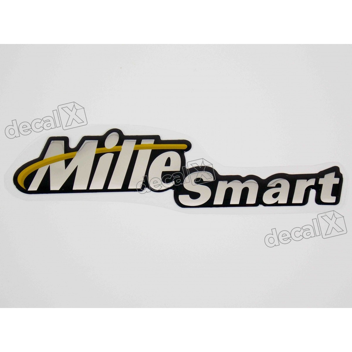 Adesivo Emblema Mille Smart Fiat Palio Resinado Dx0375