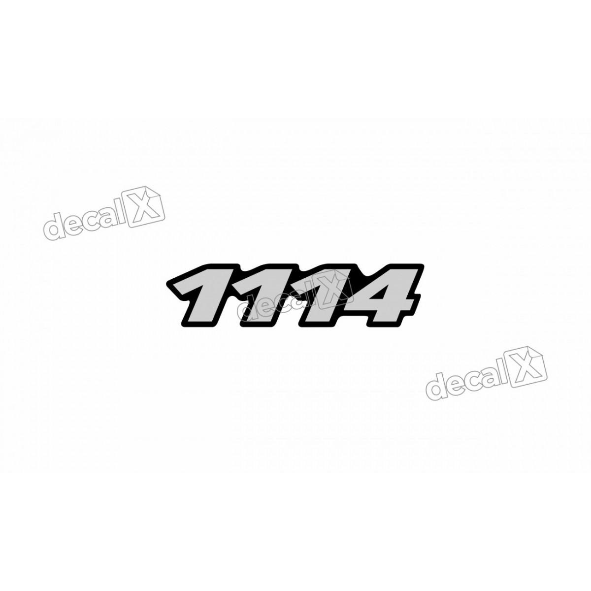 Adesivo Emblema Resinado Mercedes 1114 Cm17 Decalx