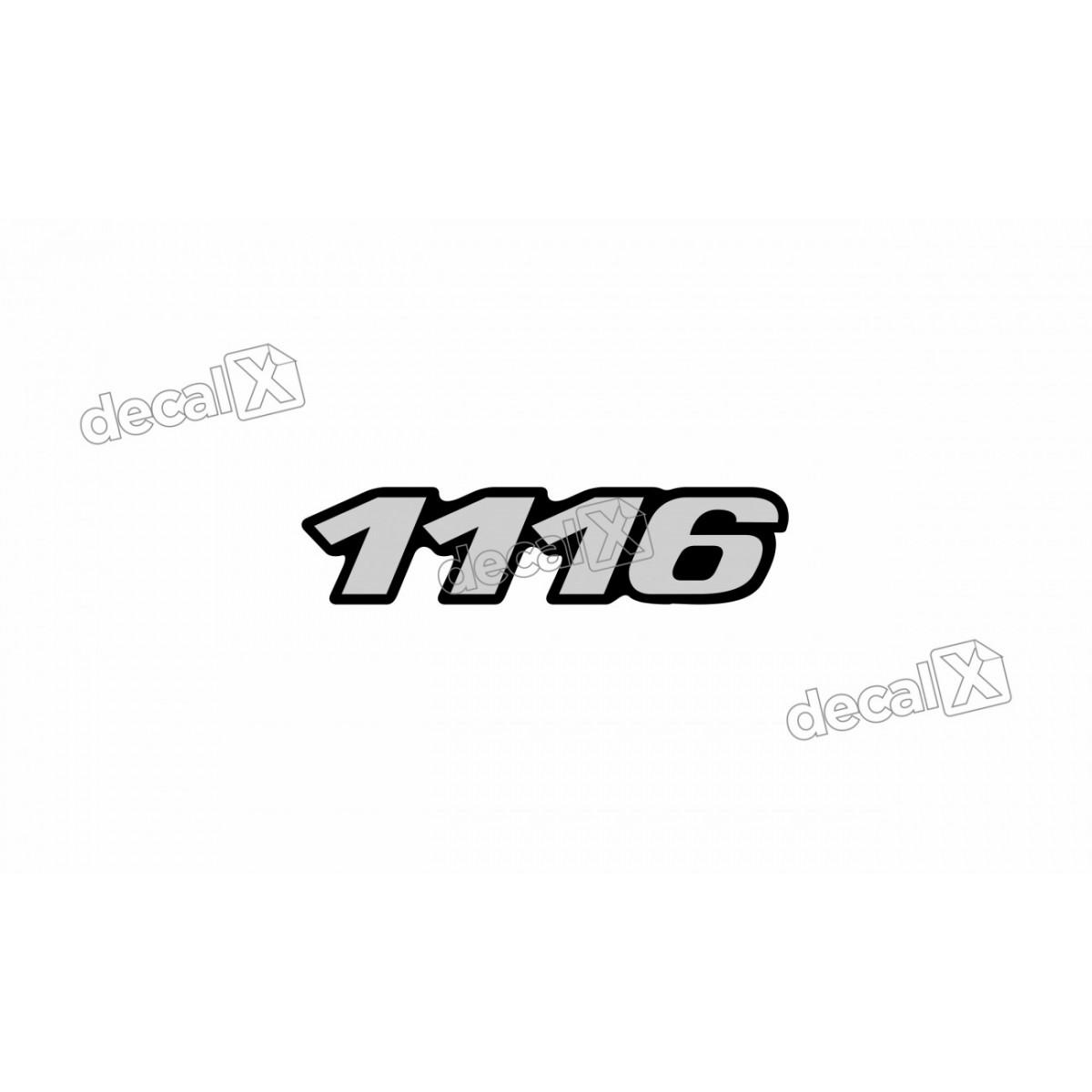 Adesivo Emblema Resinado Mercedes 1116 Cm18 Decalx