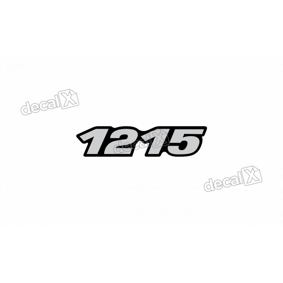 Adesivo Emblema Resinado Mercedes 1215 Cm21 Decalx