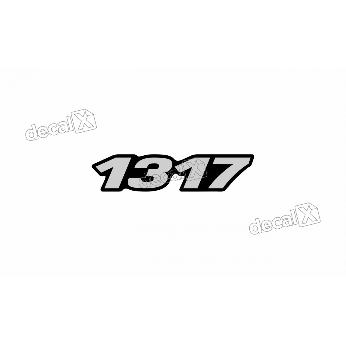 Adesivo Emblema Resinado Mercedes 1317 Cm26 Decalx