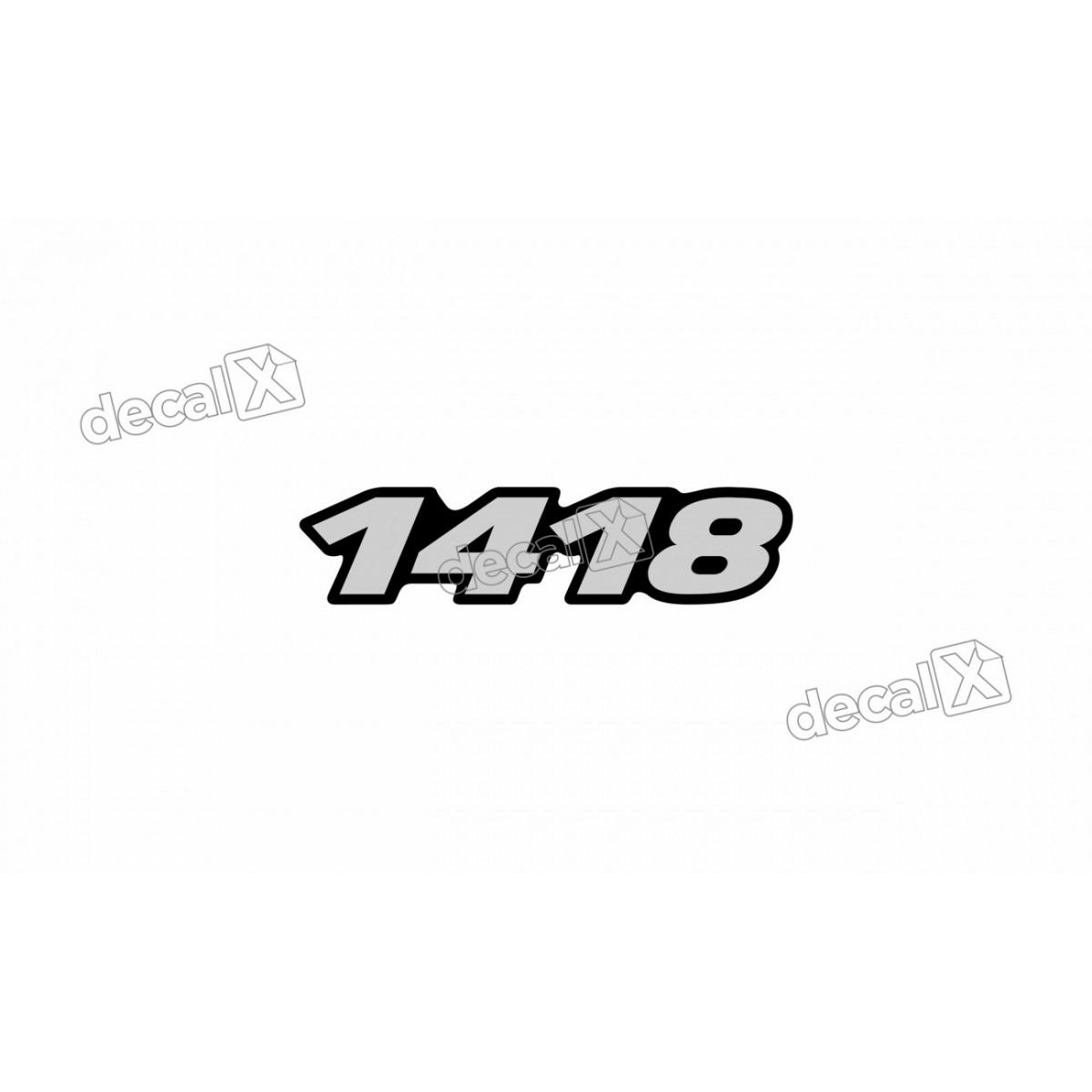 Adesivo Emblema Resinado Mercedes 1418 Cm30 Decalx