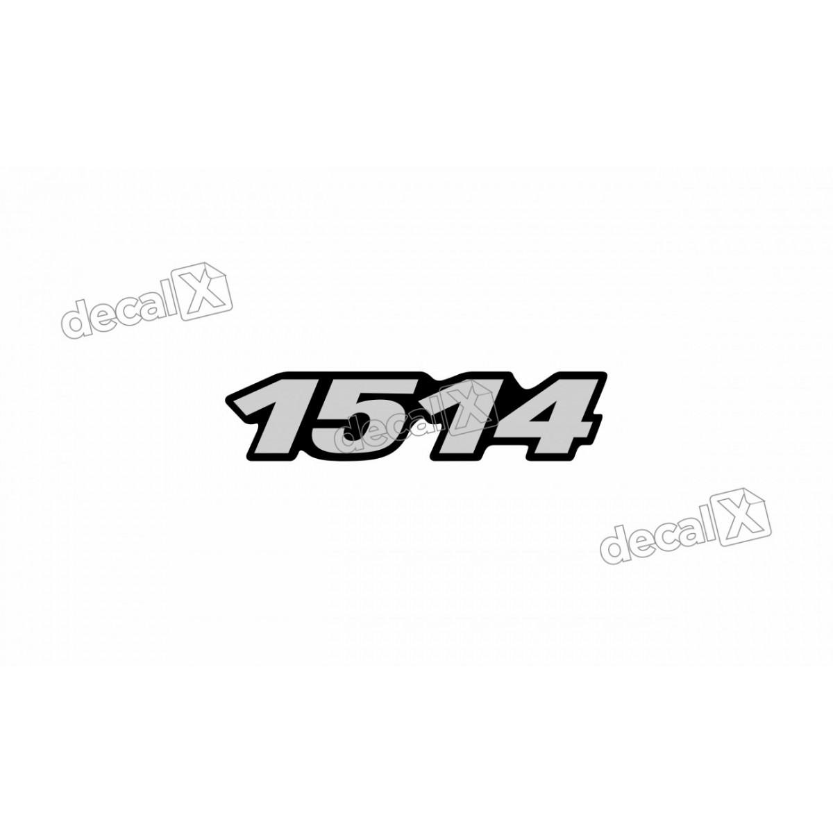 Adesivo Emblema Resinado Mercedes 1514 Cm33 Decalx
