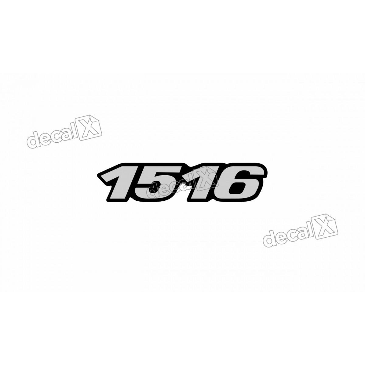 Adesivo Emblema Resinado Mercedes 1516 Cm35 Decalx