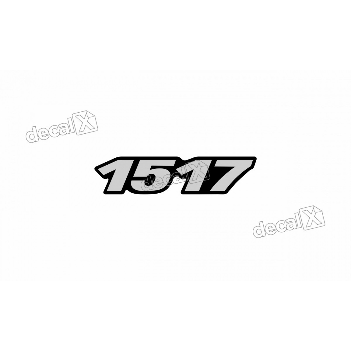 Adesivo Emblema Resinado Mercedes 1517 Cm36 Decalx
