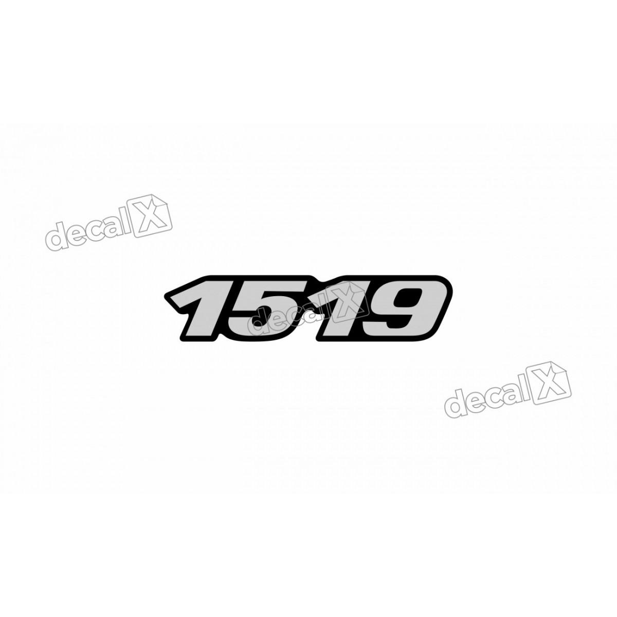 Adesivo Emblema Resinado Mercedes 1519 Cm38 Decalx
