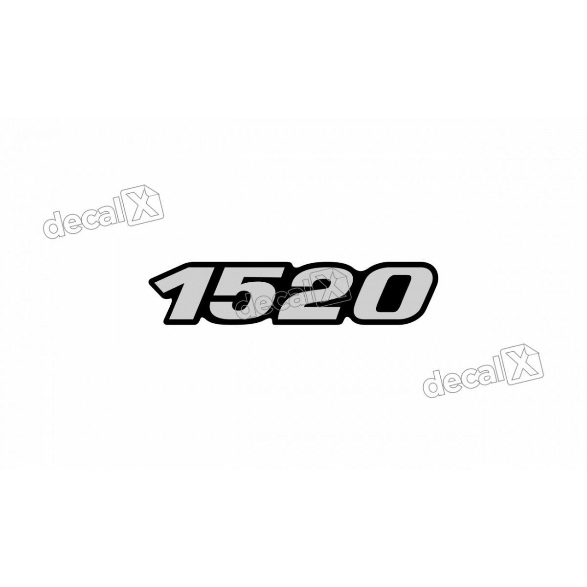 Adesivo Emblema Resinado Mercedes 1520 Cm39 Decalx