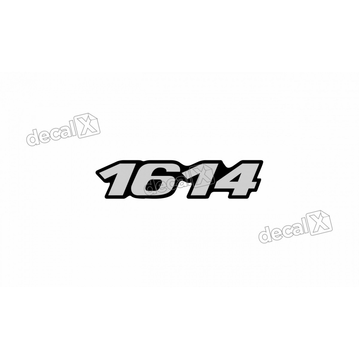Adesivo Emblema Resinado Mercedes 1614 Cm42 Decalx