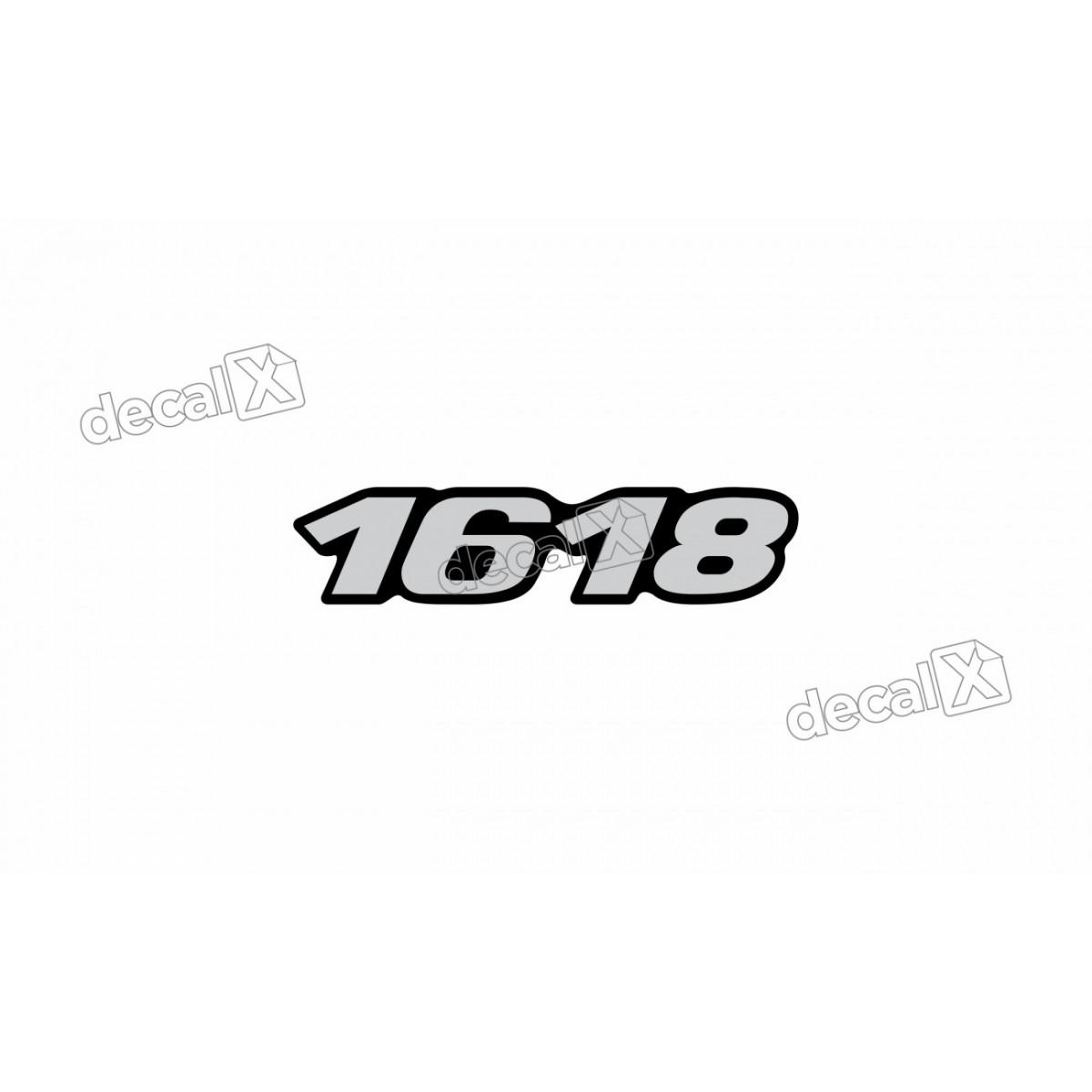 Adesivo Emblema Resinado Mercedes 1618 Cm44 Decalx