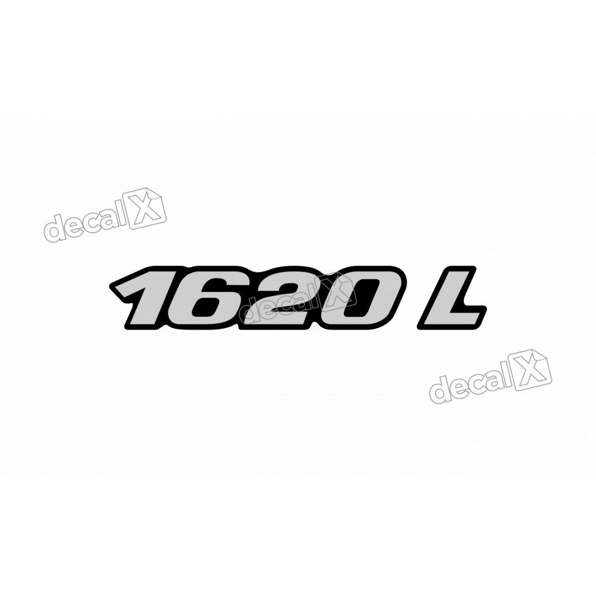 Adesivo Emblema Resinado Mercedes 1620 L Cm46 Decalx