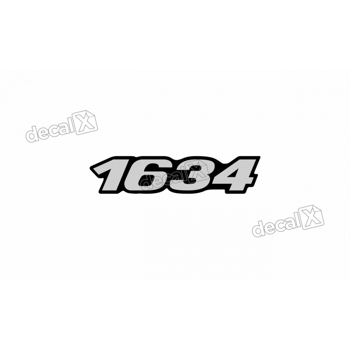 Adesivo Emblema Resinado Mercedes 1634 Cm56 Decalx