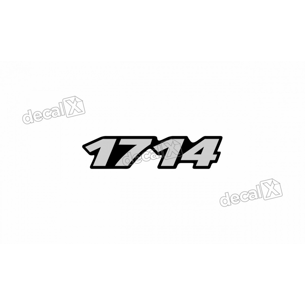 Adesivo Emblema Resinado Mercedes 1714 Cm57 Decalx