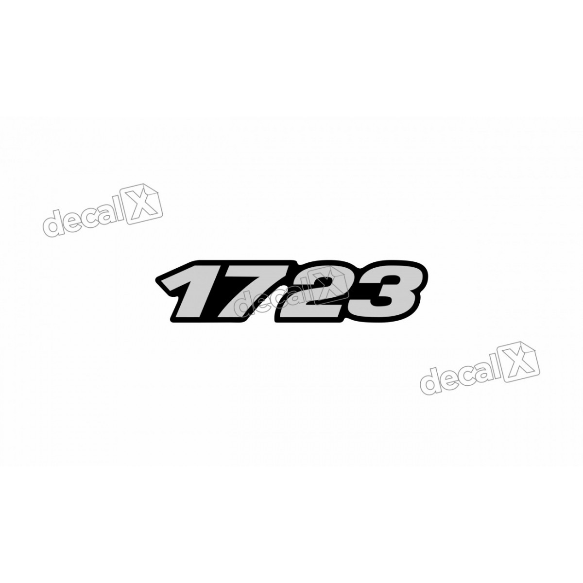 Adesivo Emblema Resinado Mercedes 1723 Cm62 Decalx