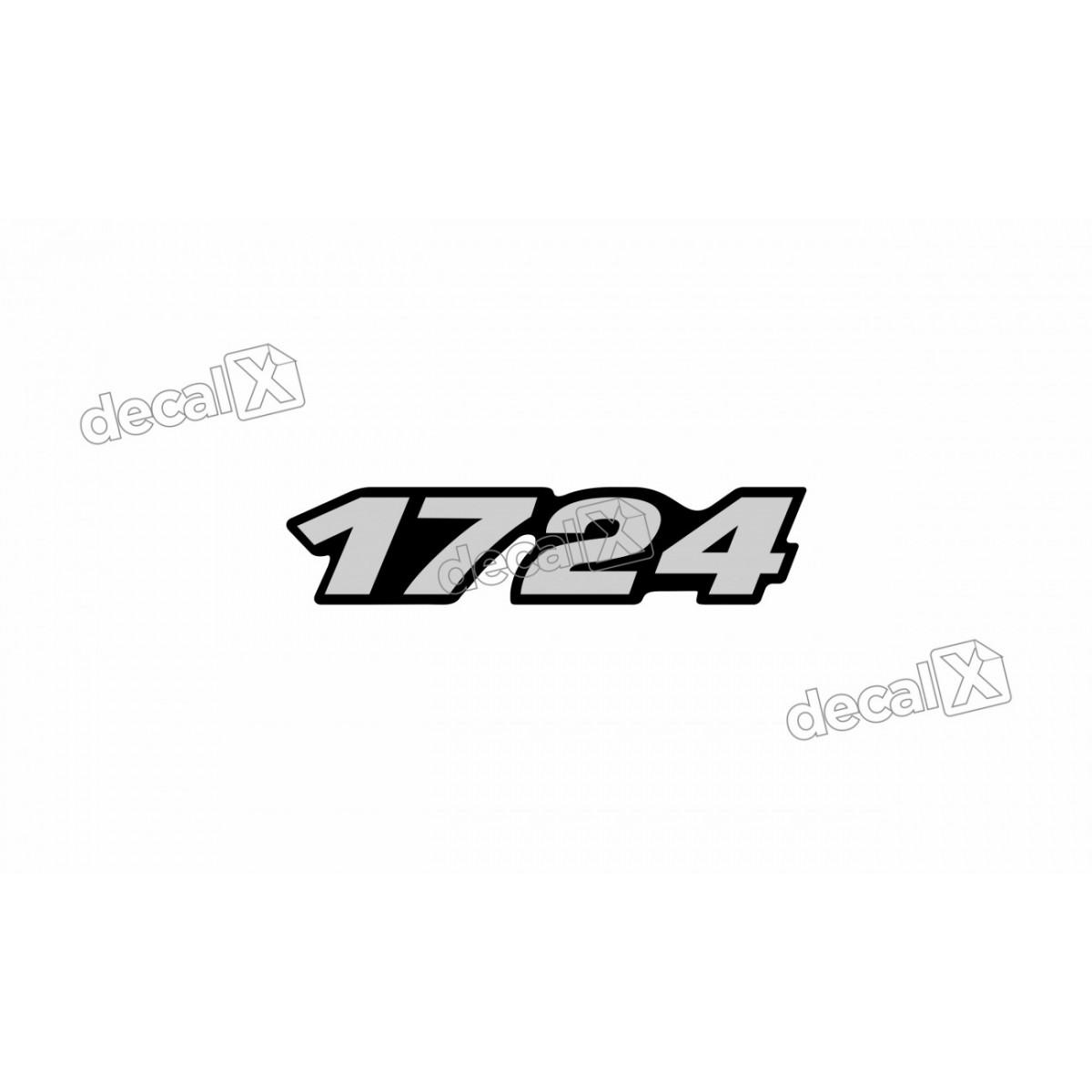 Adesivo Emblema Resinado Mercedes 1724 Cm63 Decalx