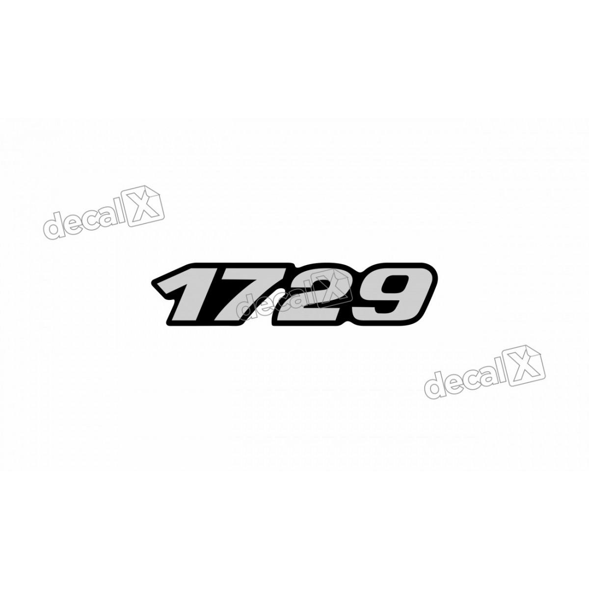 Adesivo Emblema Resinado Mercedes 1729 Cm64 Decalx