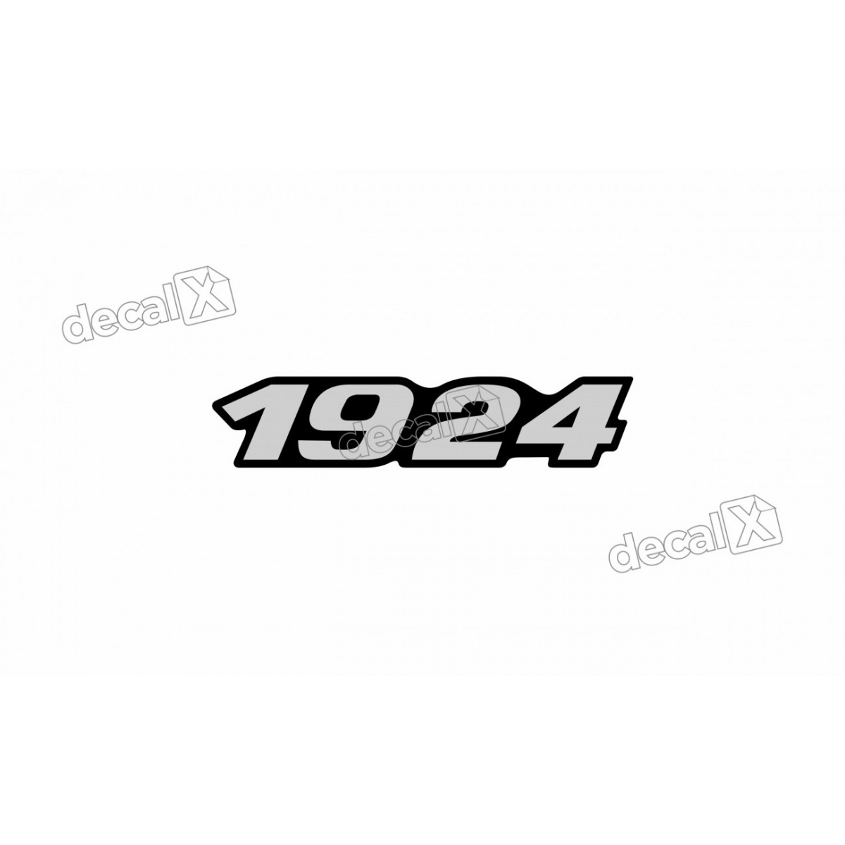 Adesivo Emblema Resinado Mercedes 1924 Cm65 Decalx