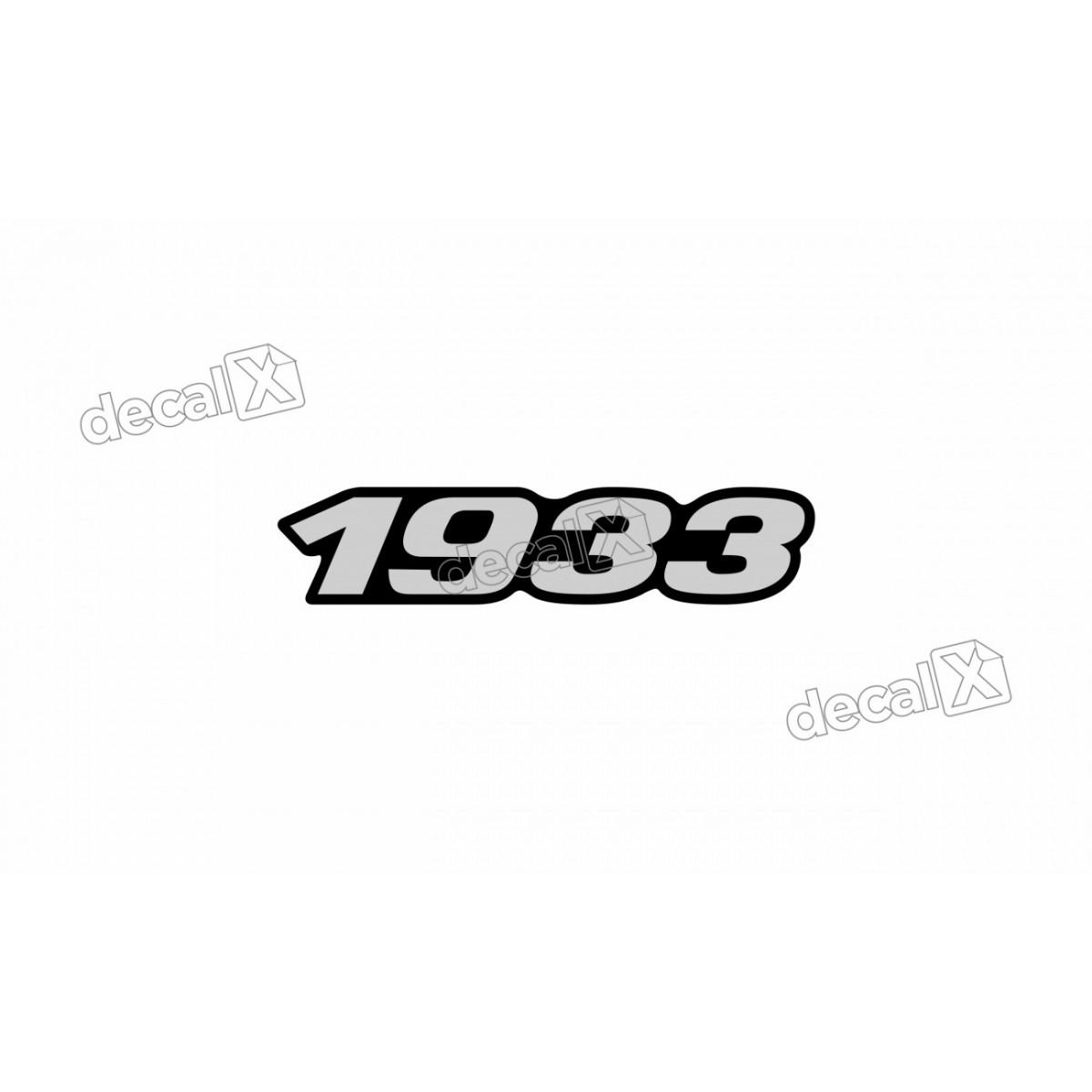 Adesivo Emblema Resinado Mercedes 1933 Cm68 Decalx