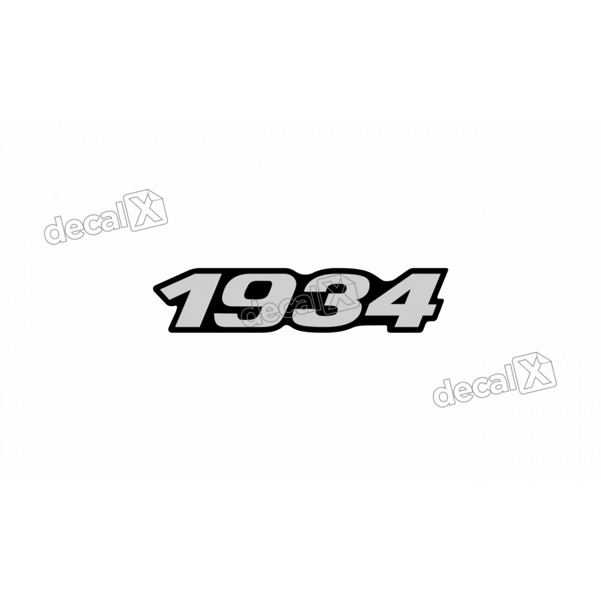 Adesivo Emblema Resinado Mercedes 1934 Cm69 Decalx