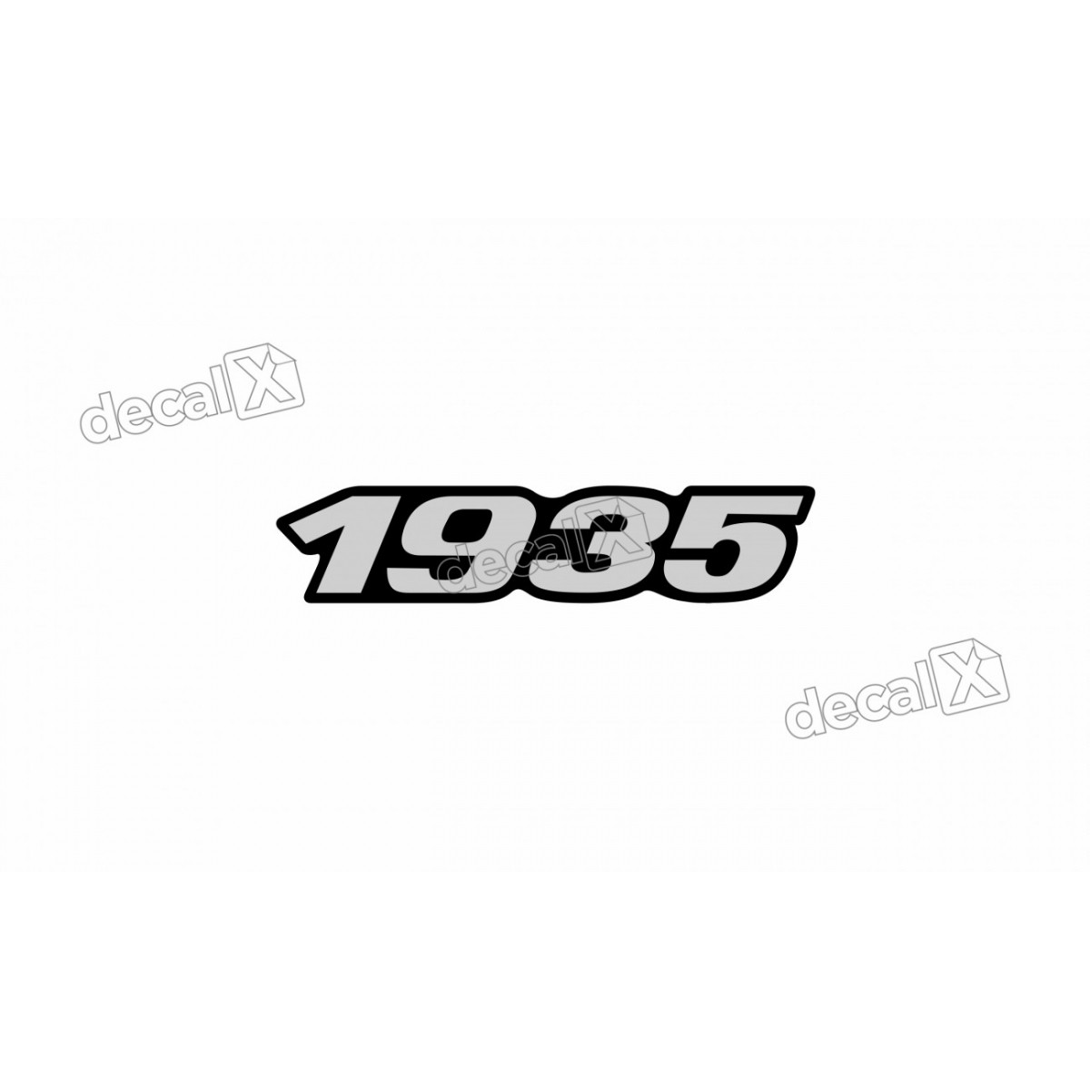 Adesivo Emblema Resinado Mercedes 1935 Cm70 Decalx