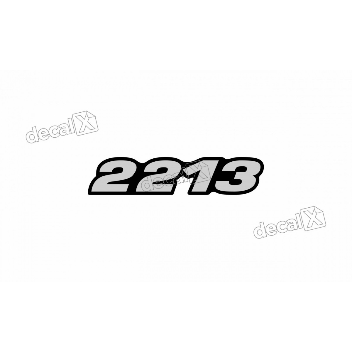 Adesivo Emblema Resinado Mercedes 2213 Cm77 Decalx