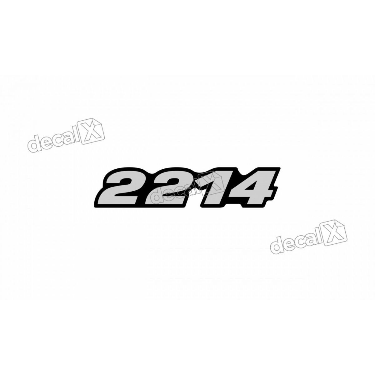 Adesivo Emblema Resinado Mercedes 2214 Cm78 Decalx