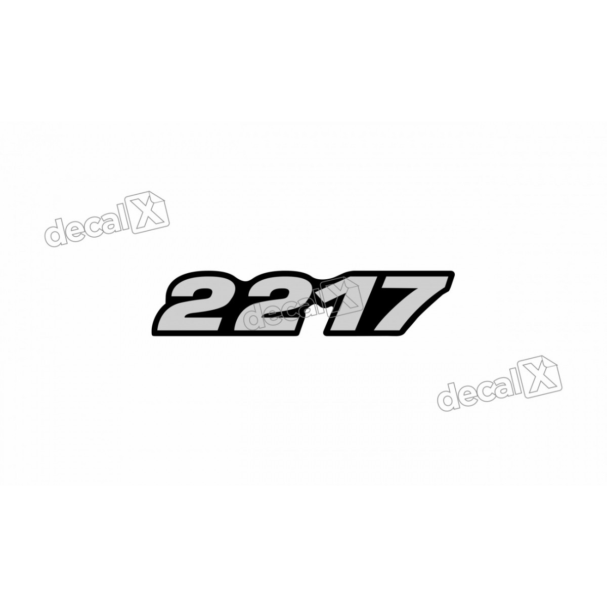 Adesivo Emblema Resinado Mercedes 2217 Cm79 Decalx