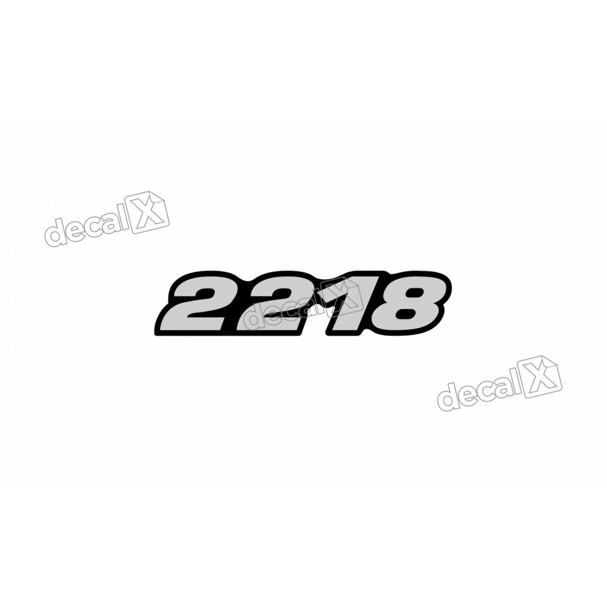 Adesivo Emblema Resinado Mercedes 2218 Cm80 Decalx