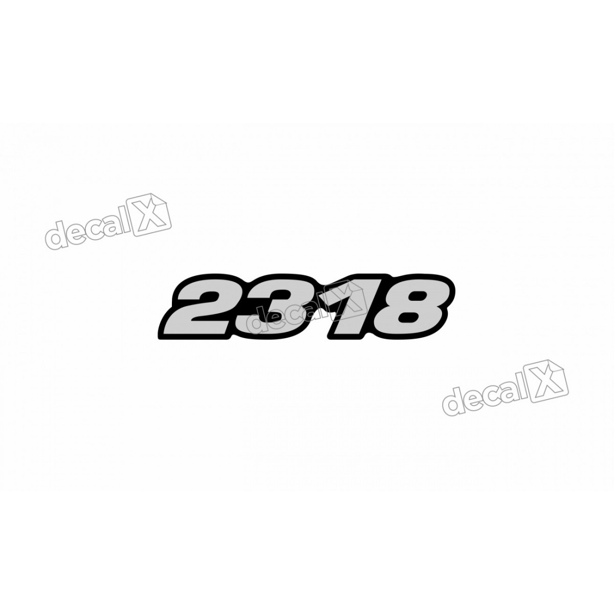 Adesivo Emblema Resinado Mercedes 2318 Cm83 Decalx
