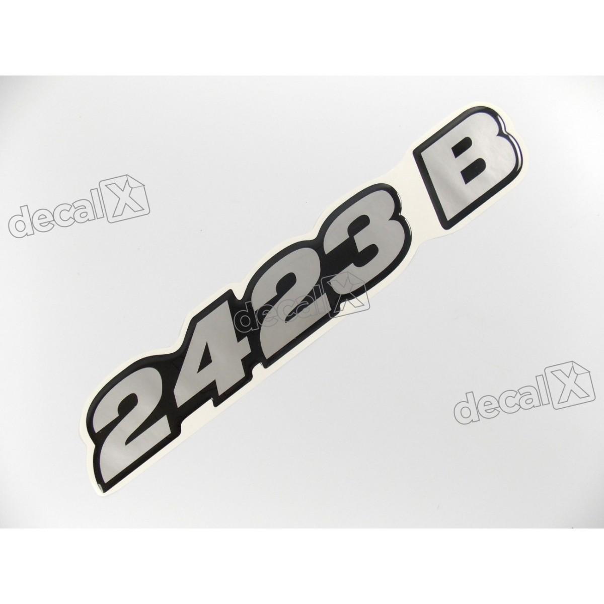 Adesivo Emblema Resinado Mercedes 2423 B Cm85 Decalx
